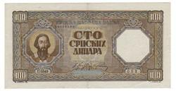 100 dinár 1943 Szerbia