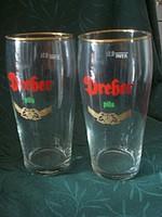 Meglepetés  !!!2 db fél literes Dréher sörös üvegpohár  szép állapotban eladó