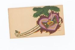 Karácsonyi Üdvözlő kártya 1940 Bozó Gyula (1913 - 2004) nem használt.