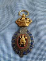 II.o. BELGA KIRÁLYI KITÜNTETÉS,Belga II. Lipót Rend Parancsnoki ?  ezüst fokozat
