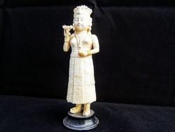 Távolkeleti nő szobor cca. 1900 (elefántcsont)