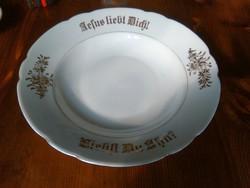 Régi Német porcelán fali dísz tányér