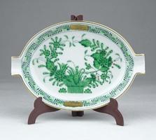 0Y451 Indiai kosaras Herendi porcelán hamutál