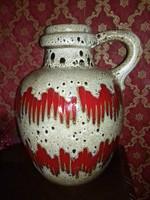 Egyedi festésű iparművész mázas padlóváza kerámia craftsman glazed stoneware floor vase ceramic
