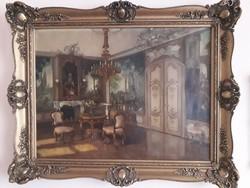 Apátfalvi Czene János - Enteriőr festmény