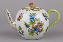 Herendi Viktória mintás teáskanna narancs rózsával