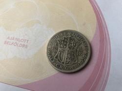 1929 angol half crown 14,14 gramm 0,500