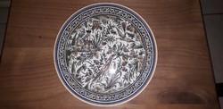 Portugál kézzel festett fali tányér