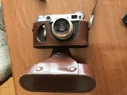 fényképezőgép Zorkij Zorki  ZORKI 6 eredeti bőrtokkal