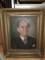 Faragó Szignós portré, 65 éves, olaj, vászon