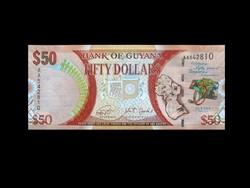 UNC - 50 DOLLÁR - GUYANA 2016