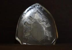 II.János Pál pápa címere,üveg dísz.