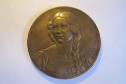 Berán Lajos 1931 bronz plakett