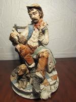 Hatalmas méretű hibátlan jelzett porcelán szobor