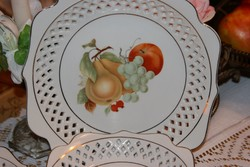 kinai porcelán készlet áttört szélű