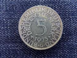Németország Szövetségi Köztársaság (1949-1990) ezüst (.625) 5 Márka 1973 G / id 12973/