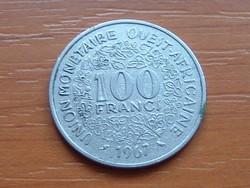 NYUGAT AFRIKAI ÁLLAMOK 100 FRANK FRANCS 1967 #
