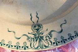 Antik Francia Ironstone orchideás tál