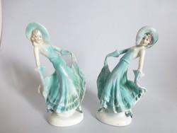 Ritka német art deco balerinák párban