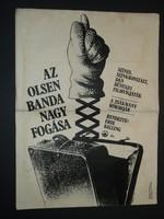 Karácsonyi ajándék ötlet! Antik filmplakát: AZ OLSEN BANDA NAGY FOGÁSA