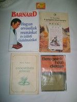 Négy darab retro könyv - életmód, betegségek, gyógynövények,...