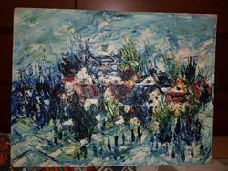 Nagyon mérges vagyok erre a festőre, így kibabrálni a csodálókkal... 61x80 cm, farost