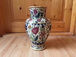 Zsolnay porcelán váza 1880-as évekből virág mintával