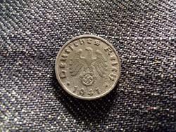 Németország Horogkeresztes 1 Reichspfennig 1941 B / id 12116/