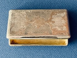 Bécsi antik ezüst szelence 1854-ből, 85 gramm