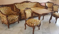 Neobarokk ülőgarnitúra asztal nélkül