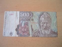 ROMÁNIA 500 LEI 1991 F SZÉRIA