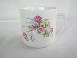 Zsolnay porcelán mezei virágos bögre