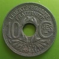 Franciaország 10 francia centimes, 1941