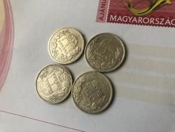 1893,94,95,96 magyar ezüst 1 koronák egyben