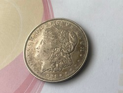 1921 USA ezüst 1 dollár 26,7 gramm 0,900