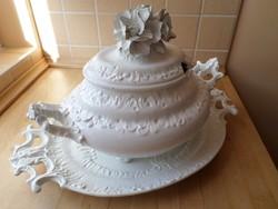 Bassano olasz díszes fehér kerámia asztalközép