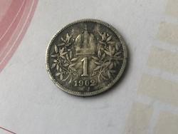 1902 ezüst 1 korona,ritkább