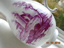 HÖCHST,a második legrégibb Európai porcelán manufaktúrától,kiöntő EGYEDI kézzel festett tájképpel