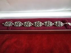 Antik karkötő rózsa mintás 800-as 19 cm