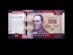 UNC - 5 DOLLÁR - LIBÉRIA