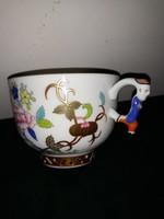HERENDI SHANGHAI mintás csésze mandarin fogóval