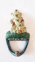 Macis fogas öntöttvas mackós vintage fali akasztó