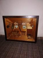 1,-Ft Gyönyörű fából faragott antik szobabelső!