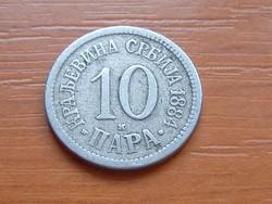 SZERBIA 10 PARA 1884 H (BIRMINGHAM) #