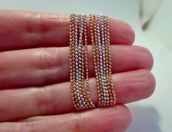 Gyönyörű három soros ezüst nyakék