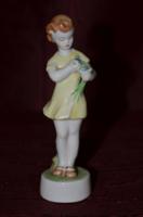 Zsolnay virágot tartó lány 02  ( DBZ 0064 )