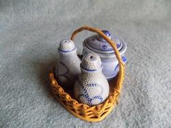 Asztali sószóró borsszóró paprikatartó készlet (20/d)
