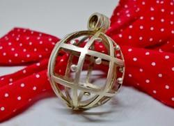 Ritka nagy ezüst amulett vagy drágakő tartó medál