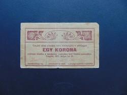 1 korona 1919 Czegléd város
