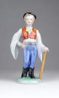 0Y675 Herendi kalapos legény porcelán szobor